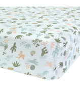 Perlimpinpin Cotton Muslun Fitted Crib Sheet Cactus