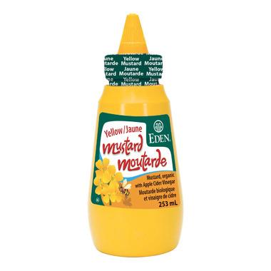 Eden Organic Yellow Stoneground Mustard Bottle