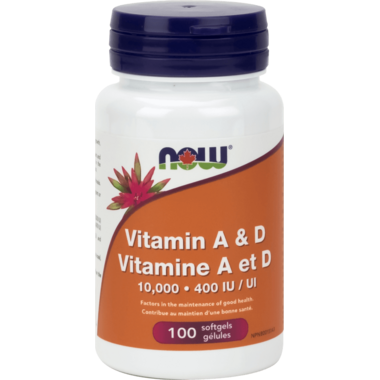 NOW Foods Vitamin A & D 10,000 IU / 400 IU