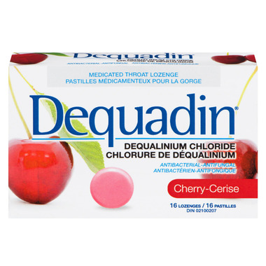 Dequadin Medicated Throat Lozenges Cherry