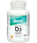 Rexall Vitamin D3 1000 IU Chewable Tablet Orange