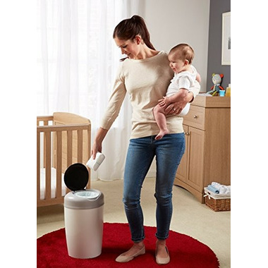 Tommee Tippee Simplee Diaper Pail With Refill Grey