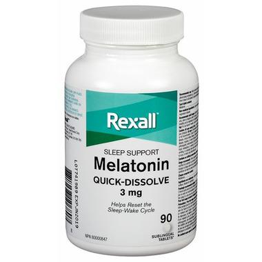 Rexall Melatonin Quick-Dissolve Sleeping Aid