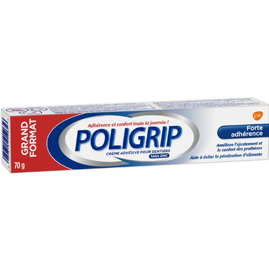 Poligrip Strong Hold Denture Adhesive Cream