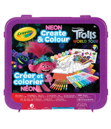Crayola Trolls World Tour Neon Create & Colour Art Set