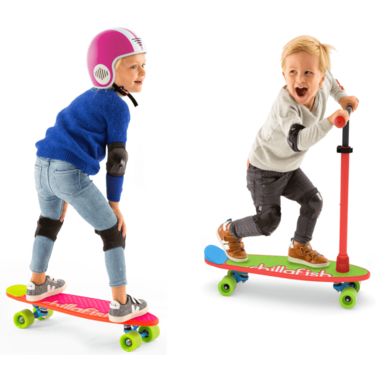 Chillafish SkatieSkootie 2-in-1 Scooter & Skateboard Redmix
