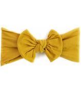 Baby Wisp Nylon Headwrap Bow Headband Mustard