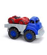 Green Toys Flatbed Truck & Red Race Car