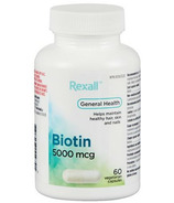 Rexall Biotine 5000mcg Vegetarian Capsules