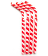 GreenPaxx Silicone Reusable Straws Red Stripes