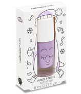 nailmatic Piglou Kids Water-Based Nail Polish Purple Glitter