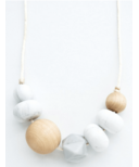 Loulou Lollipop Freda Silicone Teething Necklace Marble