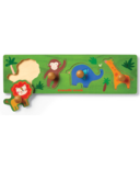 Crocodile Creek Wood Knob Puzzle Jungle