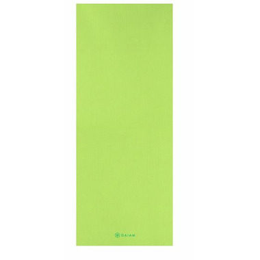 Gaiam Kids Printed Yoga Mat Solid Lime
