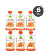 Bioitalia Ensemble de purée de smoothie biologique carotte abricot citrouille