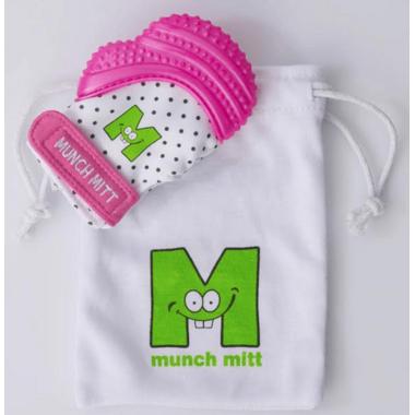 Munch Mitt Teething Mitten Pink Shimmer
