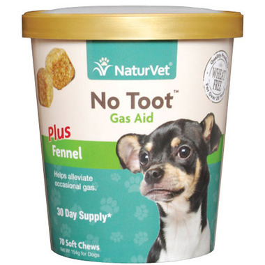 Naturvet No Toot Gas Aid Plus Fennel Soft Chews