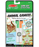 Melissa & Doug On the Go Animal Games Wipe-Off Activity Pad