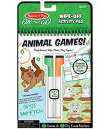 Melissa & Doug On the Go Animal Games Wipe-Off Activity Pad