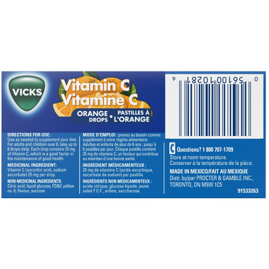 Vicks Vitamin C Drops Orange Flavour