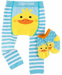 ZOOCCHINI Comfort Crawler Legging & Socks Set Puddles the Duck