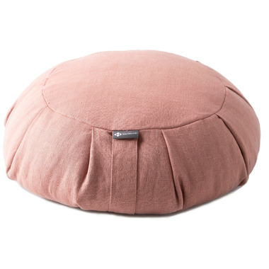 Halfmoon Round Meditation Cushion Limited Edition Rose Clay