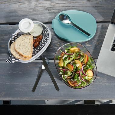 Mepal Ellipse Duo Salad Box Nordic Green
