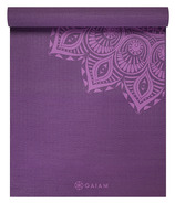 Gaiam 6mm Premium Yoga Mat Purple Mandala