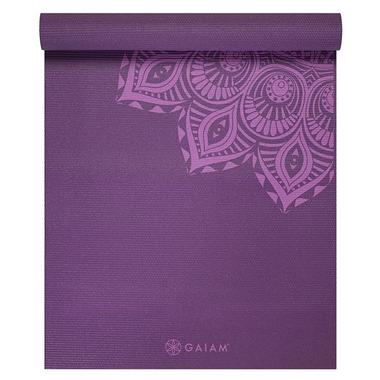 Gaiam 6mm Premium Yoga Mat Purple Mandala