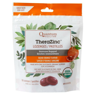 Quantum Organic TheraZinc Blood Orange Lozenges