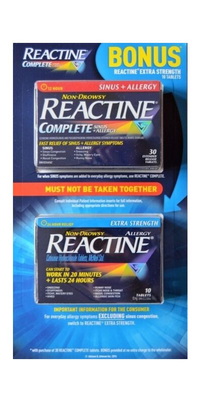 Reactine Extra Strength Bonus