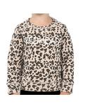 Brunette the Label Redhead Toddler Sweatshirt Crew Leopard Print