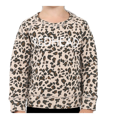 Brunette the Label Redhead Kids Sweatshirt Crew Leopard Print