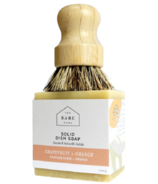 The Bare Home Solid Dish Soap + Brush Duo Grapefruit/Orange