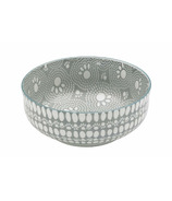 Ore Pet Speckle & Spot Deep Bowl in Sante Fe Grey