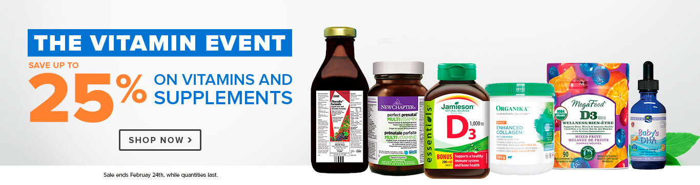 Save up to 25% on The Vitamin Event, Shop Vitamins & Supplements