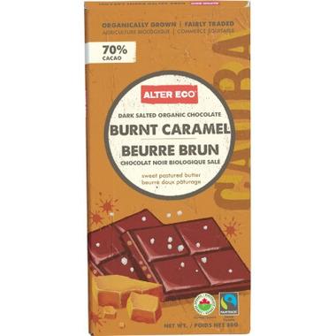 Alter Eco Dark Salted Organic Chocolate Burnt Caramel Salted