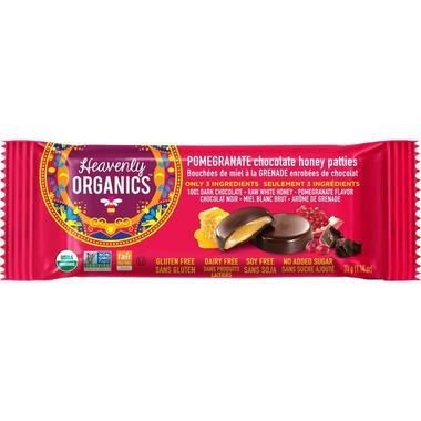 Heavenly Organics Pomegranate Chocolate Honey Patties