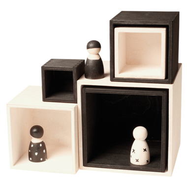 Grimm\'s Large Monochrome Stacking Boxes