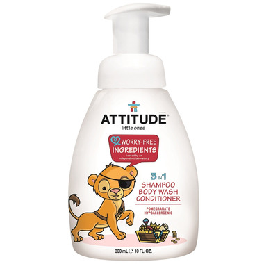 ATTITUDE Little Ones 3-In-1 Shampoo, Body Wash, Conditioner