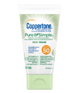 Coppertone Mineral Sunscreen Lotion Pure & Simple Face SPF 50