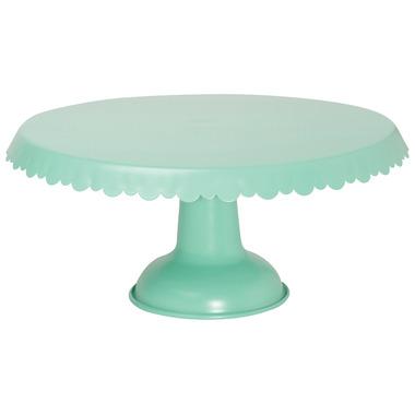 Now Design Cake Stand Tin Aqua