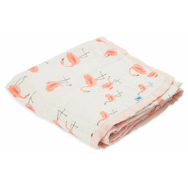 Little Unicorn Deluxe Muslin Quilt Pink Ladies