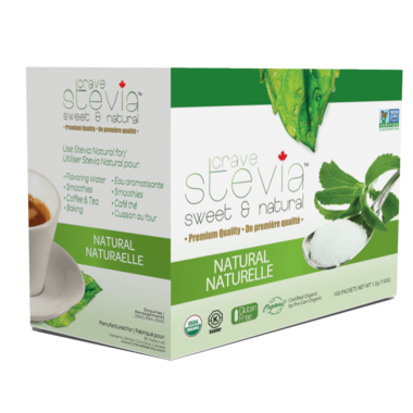 Crave Stevia Sweet and Natural Stevia Naturals Packets
