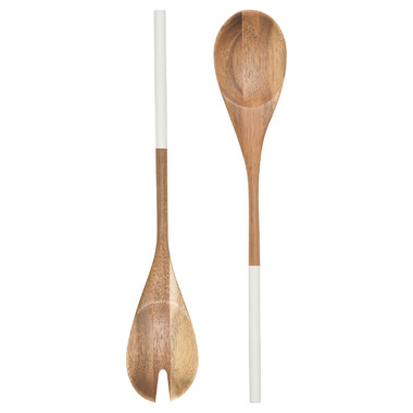Now Designs Salad Servers Dipped White
