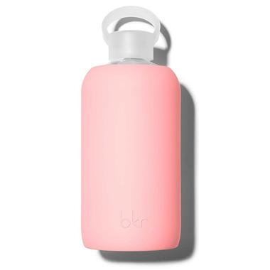 bkr Elle Glass Water Bottle Opaque Pastel Fluorescent Coral