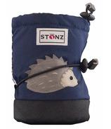 Stonz Navy Hedgehog Infant Booties
