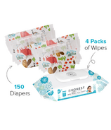 The Honest Company Into the Wild Print Diapers & Wipes Bundle Size 5