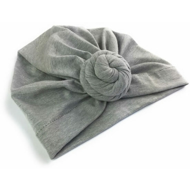 Baby Wisp Bohemian Knot Hat Grey