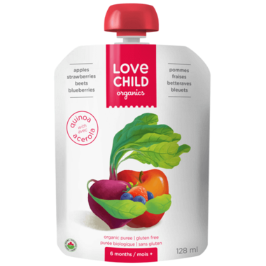 Love Child Organics Super Blends Apples, Strawberries, Beets, Blueberries